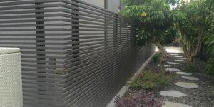 גדרות לגינה מאלומיניום שחור עם שקיפות גבוהה - דגם צף 1
