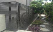גדרות לגינה מאלומיניום שחור עם שקיפות גבוהה – דגם צף 1