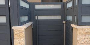 עיצוב שערים לבית פרטי מאלומיניום - דגם רותם מספר 4