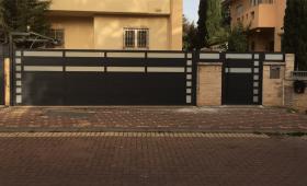 עיצוב שערים לבית פרטי מאלומיניום – דגם רותם 9