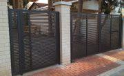 שערים חשמליים לחניה של בית פרטי – דגם רז 17