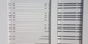 שער אלומיניום מעוצב לבית פרטי - דגם רז 23 צבע לבן