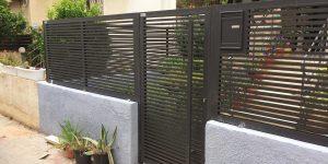 שער לחצר של בית פרטי - דגם רז 4