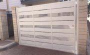 שערים חשמליים לחניה פרטית – דגם שניר ורז 12