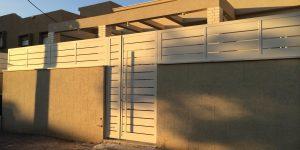 שערים לבתים פרטיים מאלומיניום - דגם שניר 10