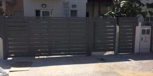 שערים חשמליים מאלומיניום מעוצב - דגם שניר 12