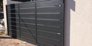 תכנון שער חניה חשמלי מאלומיניום - דגם שניר 14