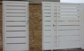 שערי אלומיניום לכניסה של בית פרטי – דגם שניר 15