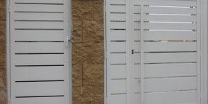 שערי אלומיניום לכניסה של בית פרטי - דגם שניר 15