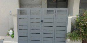 שער כניסה מעוצב מאלומיניום - דגם שניר ורז מספר 17