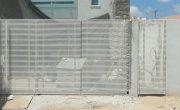 שערים לחניה פרטית מאלומיניום מעוצב – דגם שניר ורז 3