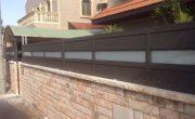 עיצוב גדר לבית פרטי מאלומיניום – דגם רותם 1