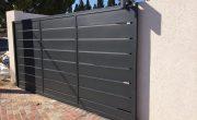 תכנון שער חניה חשמלי מאלומיניום – דגם שניר 14