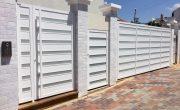 שערים חשמליים לבית פרטי מאלומיניום מעוצב – דגם רותם 15