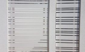 שער אלומיניום מעוצב לבית פרטי – דגם רז 23 צבע לבן
