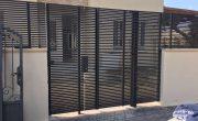 שערים מעוצבים מאלומיניום בצבע שחור – דגם צף 4