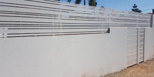 הגבהה של גדר אלומיניום על חומה - דגם לירון 6