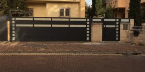 עיצוב שערים לבית פרטי מאלומיניום - דגם רותם 9
